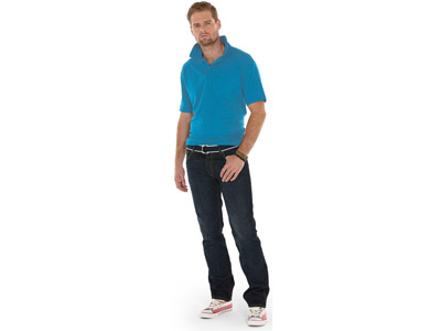 Рубашка поло «Boston» мужская, голубой лед ( S )