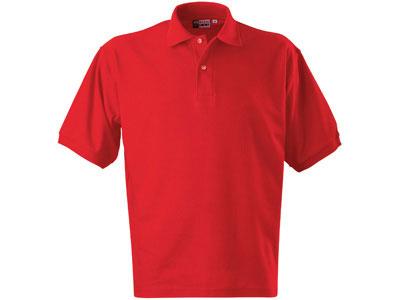 Рубашка поло «Boston» мужская, красный ( L )