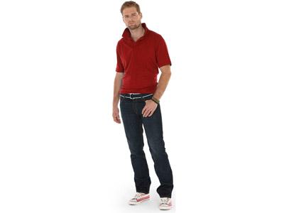 Рубашка поло «Boston» мужская, бургунди ( S )