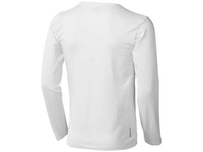 Футболка мужская с длинным рукавом, белый ( S )