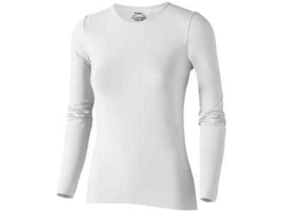 Футболка женская с длинным рукавом, белый ( M )