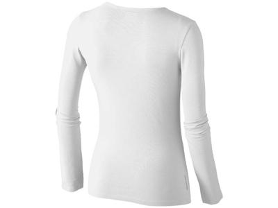 Футболка женская с длинным рукавом, белый ( S )