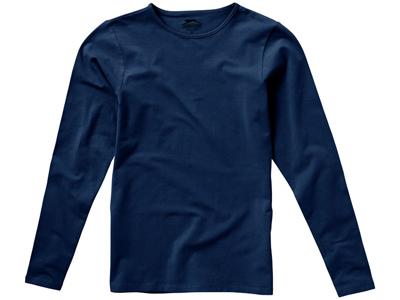 Футболка женская с длинным рукавом, темно-синий ( M )