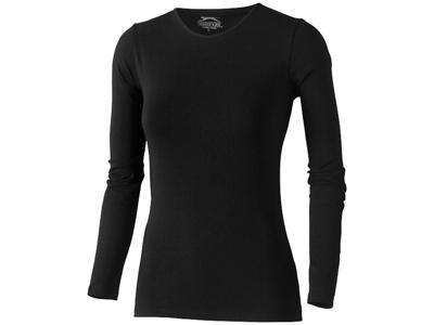 Футболка женская с длинным рукавом, черный ( M )