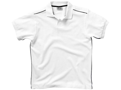Рубашка поло «Backhand» мужская, белый/темно-синий ( 2XL )