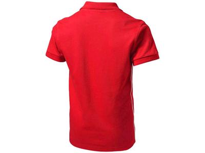 Рубашка поло «Backhand» мужская, красный/белый ( L )
