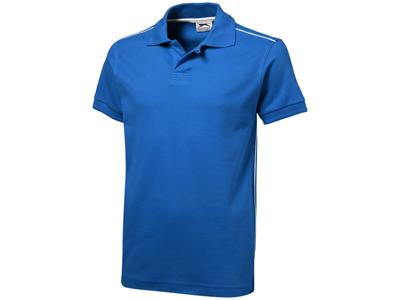 Рубашка поло «Backhand» мужская, небесно-синий/белый ( M )