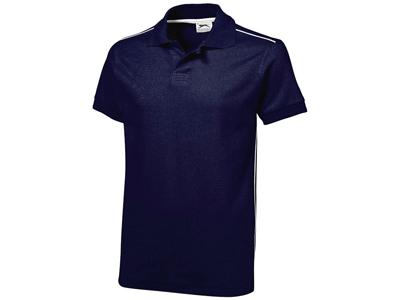 Рубашка поло «Backhand» мужская, темно-синий/белый ( 2XL )