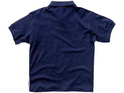 Рубашка поло «Backhand» мужская, темно-синий/белый ( S )