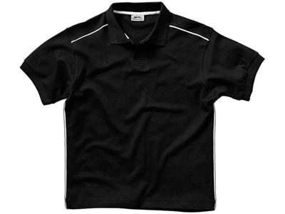 Рубашка поло «Backhand» мужская, черный/белый ( S )
