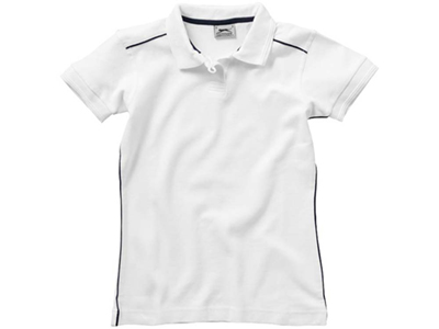 Рубашка поло «Backhand» женская, белый/темно-синий ( M )