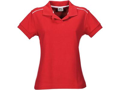 Рубашка поло «Backhand» женская, красный/белый ( L )
