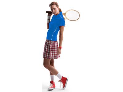 Рубашка поло «Backhand» женская, небесно-синий/белый ( L )