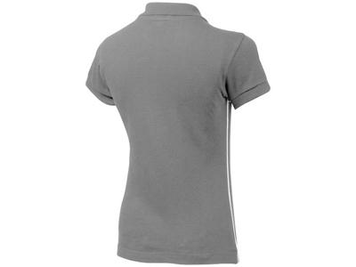 Рубашка поло «Backhand» женская, серый/белый ( M )