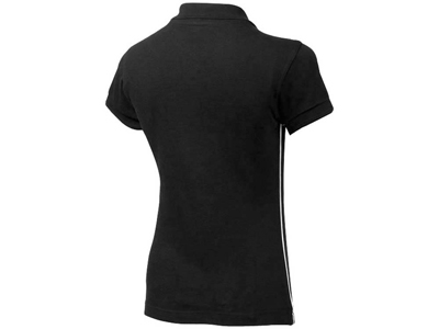 Рубашка поло «Backhand» женская, черный/белый ( 2XL )