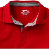 """Рубашка поло """"Hacker"""" мужская, красный/серый ( 2XL )"""