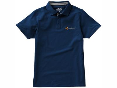 "Рубашка поло ""Hacker"" мужская, темно-синий/серый ( 2XL )"