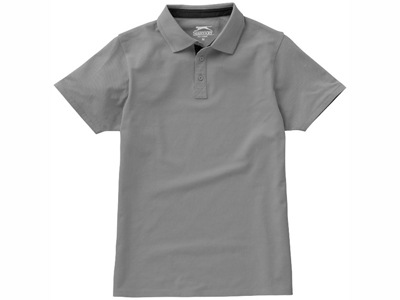 """Рубашка поло """"Hacker"""" мужская, серый/черный ( S )"""