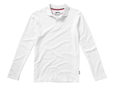 """Рубашка поло """"Point"""" мужская с длинным рукавом, белый ( 3XL ), арт. 001710303"""