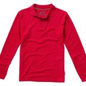 Рубашка поло «Point» мужская с длинным рукавом, красный ( 3XL )