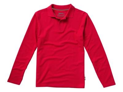 """Рубашка поло """"Point"""" мужская с длинным рукавом, красный ( 3XL ), арт. 001710903"""