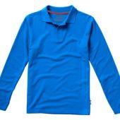 """Рубашка поло """"Point"""" мужская с длинным рукавом, небесно-голубой ( 2XL )"""