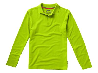"""Рубашка поло """"Point"""" мужская с длинным рукавом, зеленое яблоко ( XL ), арт. 001713103"""