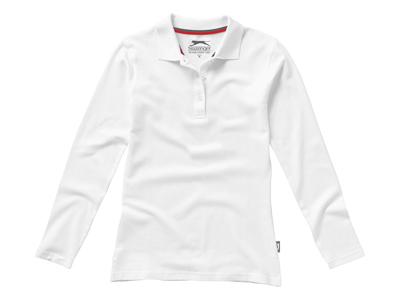 """50d207c8123d Рубашка поло """"Point"""" женская с длинным рукавом, белый ( 2XL ), арт.  001713803"""