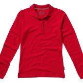 """Рубашка поло """"Point"""" женская с длинным рукавом, красный ( 2XL )"""