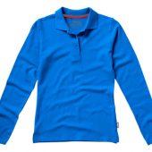 Рубашка поло «Point» женская с длинным рукавом, небесно-голубой ( L )
