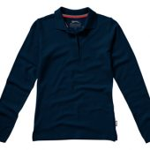Рубашка поло «Point» женская с длинным рукавом, темно-синий ( 2XL )