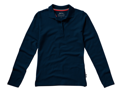 """Рубашка поло """"Point"""" женская с длинным рукавом, темно-синий ( XL ), арт. 001715703"""