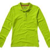Рубашка поло «Point» женская с длинным рукавом, зеленое яблоко ( S )