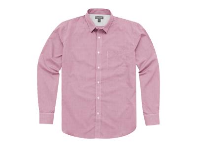 Рубашка «Net» мужская с длинным рукавом, красный ( XL )