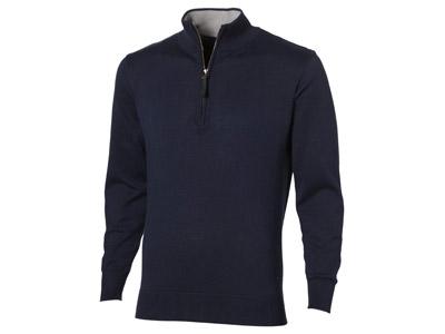 Пуловер «Set» с застежкой на четверть длины, т.синий/серый ( 3XL )