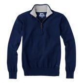 """Пуловер """"Set"""" с застежкой на четверть длины, т.синий/серый ( 3XL ), арт. 001435503"""