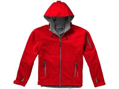 Куртка софтшел «Match» мужская, красный/серый ( 3XL )
