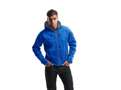 Куртка софтшел «Match» мужская, небесно-синий ( 3XL )