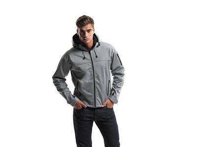 Куртка софтшел «Match» мужская, серый/черный ( 3XL )