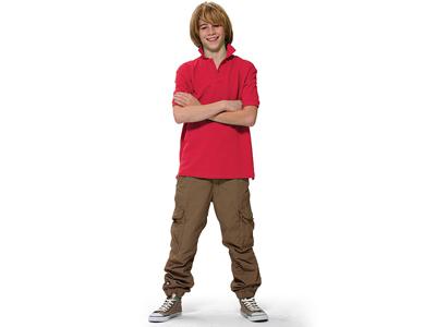 Рубашка поло «Forehand» детская, темно-красный ( 10 )