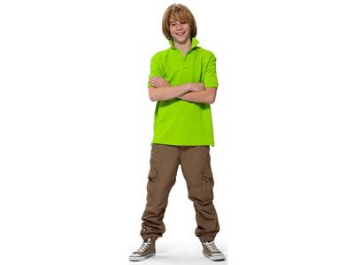 Рубашка поло «Forehand» детская, зеленое яблоко ( 10 )