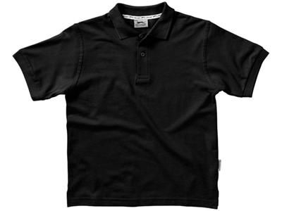 Рубашка поло «Forehand» детская, черный ( 10 )