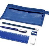 Набор канцелярский: ручка шариковая, карандаш, точилка, ластик, линейка в чехле