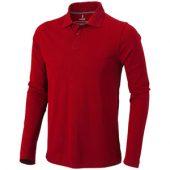 Рубашка поло «Oakville» мужская с длинным рукавом, красный ( S )