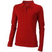 Рубашка поло «Oakville» женская с длинным рукавом, красный ( XL )