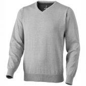 "Пуловер ""Spruce"" мужской с V-образным вырезом, серый меланж ( S ), арт. 001460503"