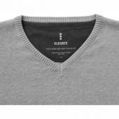 """Пуловер """"Spruce"""" мужской с V-образным вырезом, серый меланж ( L ), арт. 001460703"""