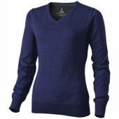 """Пуловер """"Spruce"""" женский с V-образным вырезом, темно-синий ( L )"""