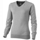 "Пуловер ""Spruce"" женский с V-образным вырезом, серый меланж ( S ), арт. 001463203"