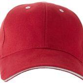"""Бейсболка """"Brent"""" типа «сэндвич», 6 панелей, красный/белый, арт. 001684503"""